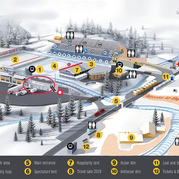 Mappa dello stadio