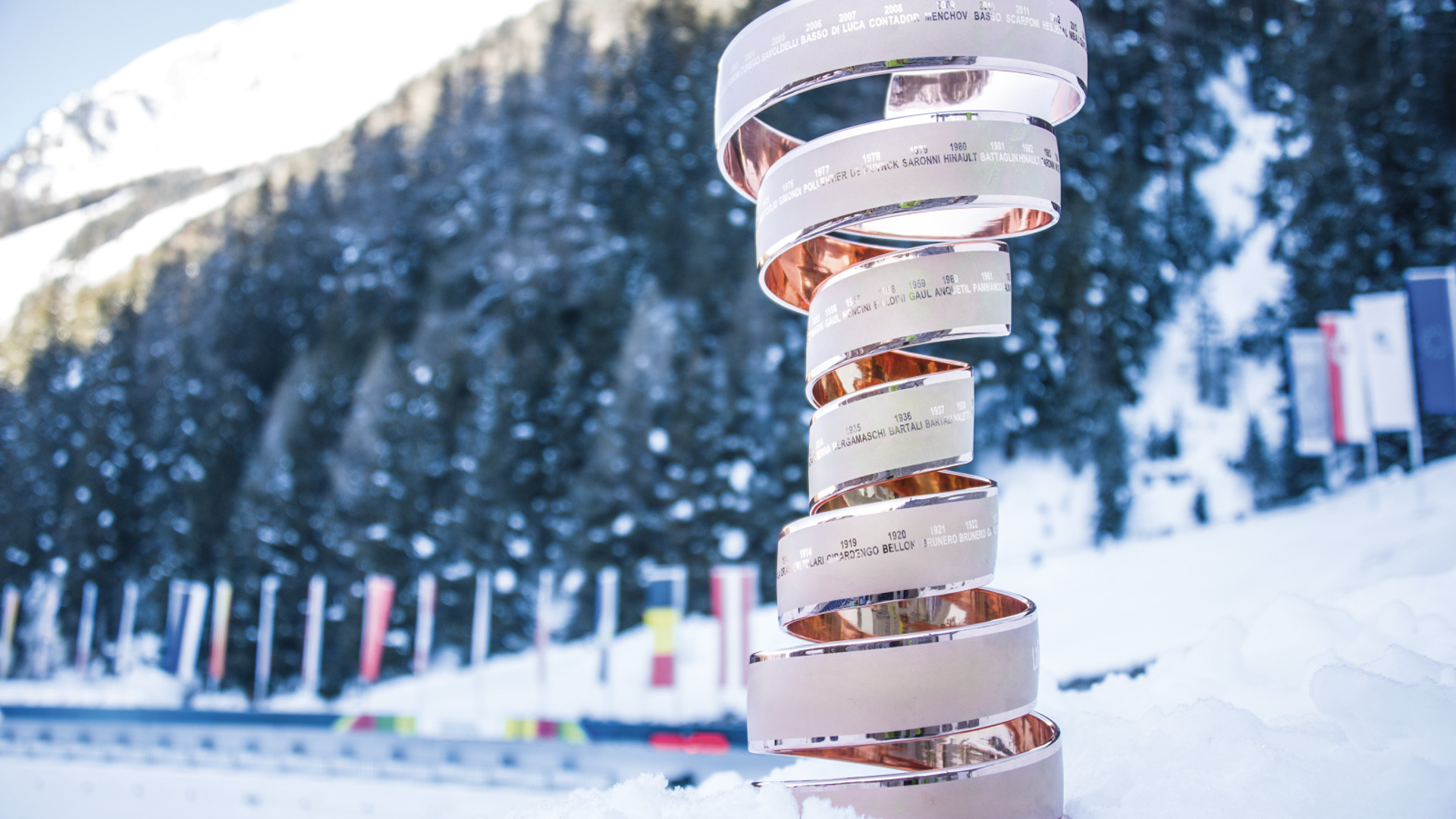 24.01.2019 - The neverending trophy of the Giro d'Italia is coming to Antholz