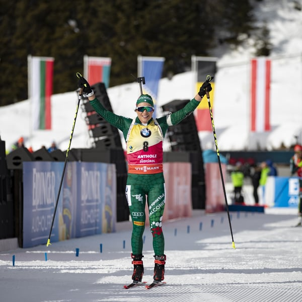 26.01.2019 - Dorothea Wierer landet den großen Antholz-Triumph