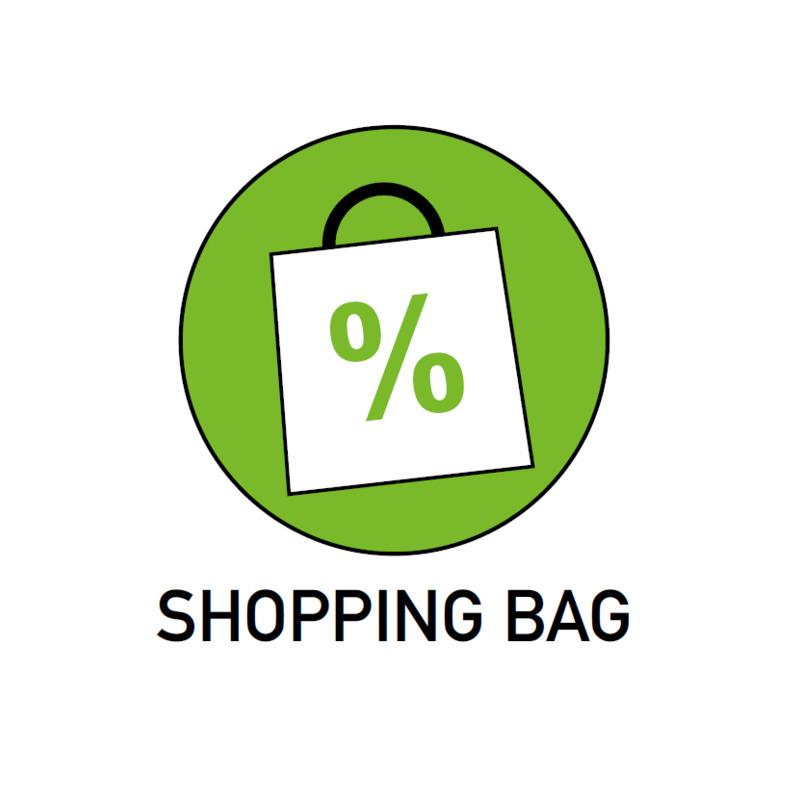 Promozioni biglietti shopping bag