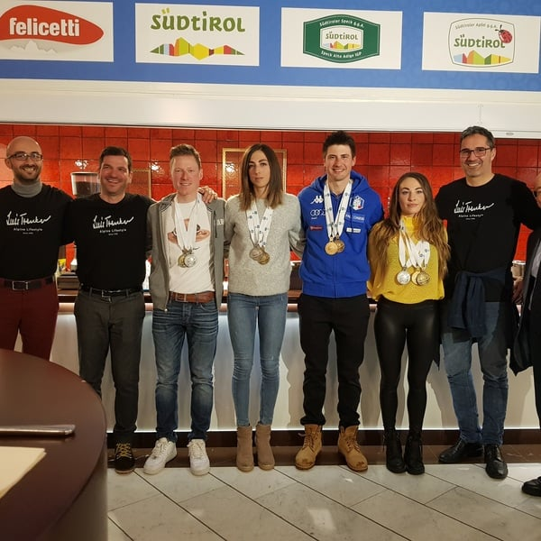 17.03.2019 - Big final party at Antholz House with all the Italian medalists of the Östersund World Championship