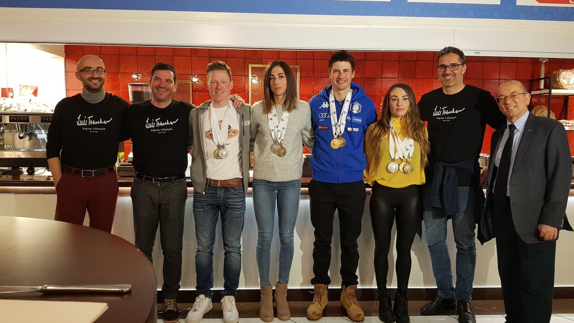 17.03.2019 - Große Abschlussparty im Antholz House mit allen italienischen Medaillengewinnern der WM in Östersund