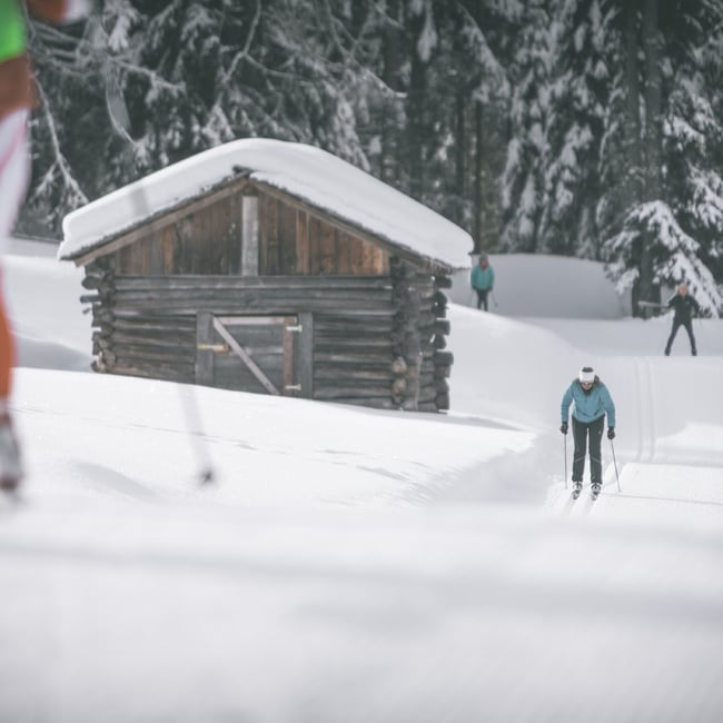 Cross-Country Skiing in Antholz