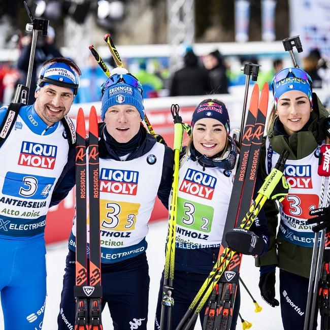 13.02.2020 - Erste italienische WM-Medaille in Antholz