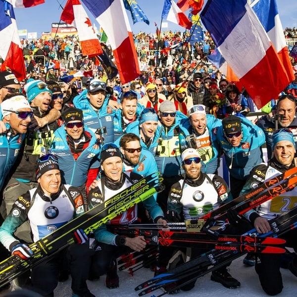 22.02.2020 - Die Franzosen trumpfen auch in der Staffel auf