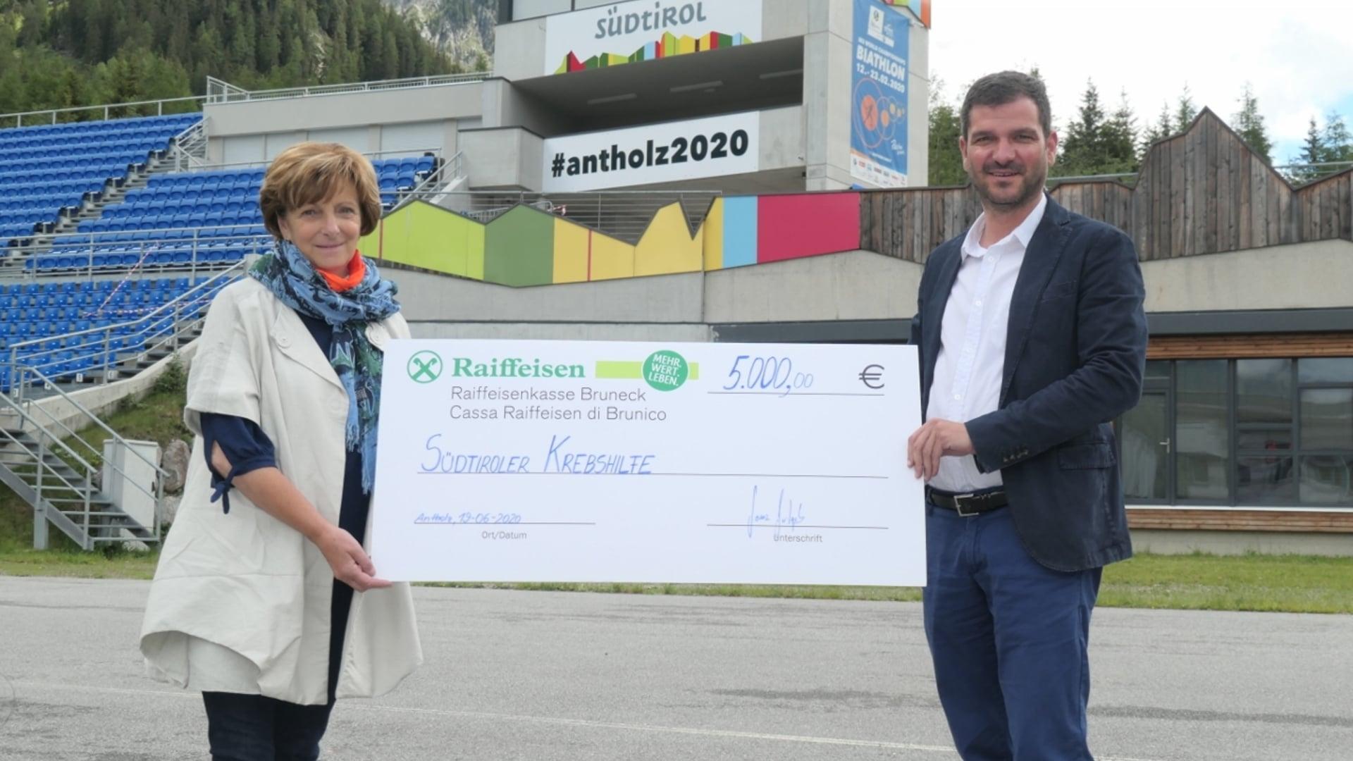 19.06.2020 - Antholzer Biathlon-WM unterstützt Südtiroler Krebshilfe